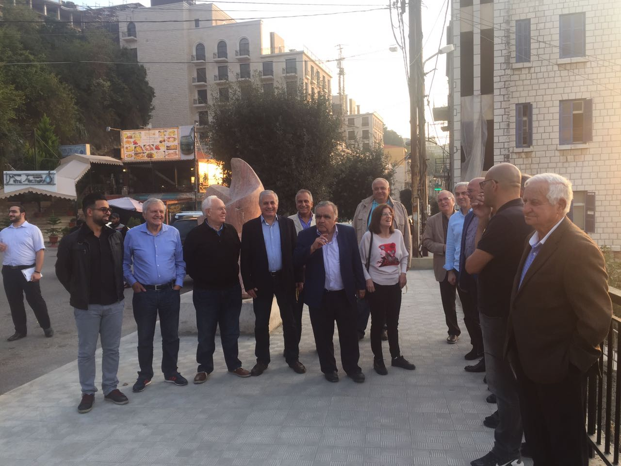 Mayor of Aley inspected the completed works in the city
